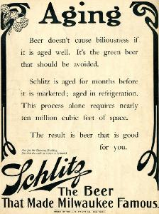 Advertisement -- Schlitz: The Beer That Made Milwaukee Famous