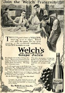 "Advertisement -- Welch's: ""Join the 'Welch' Fraternity."""