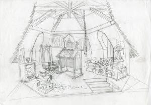 Thumbelina - Pre-Production, Environments, Library Interior