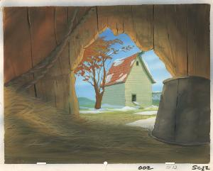 Banjo the Woodpile Cat - Painted background, Sequence 002, Scene 12