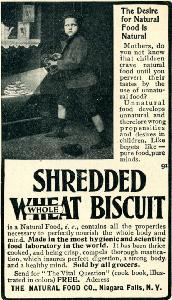 Advertisement -- Natural Food Company: Shredded Wheat.