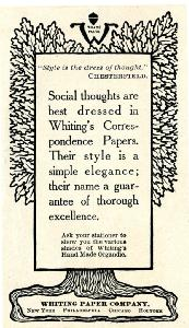Advertisement -- Whiting's Correspondence Papers