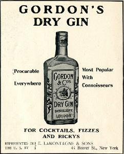 Advertisement -- Gordon's Dry Gin.