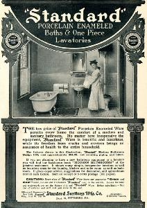 Advertisement -- Standard Porcelain Enameled Baths.