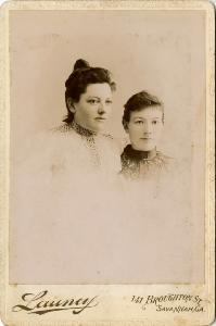 Portrait -- Two young women, head and shoulders