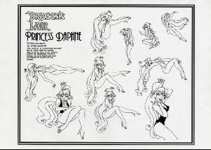 Dragon's Lair - Character Model Sheets