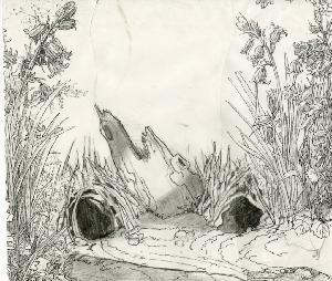 Thumbelina - Pre-Production, Environments, Forest Sketches