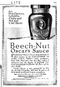 Advertisement -- Beech-Nut Oscar's Sauce.