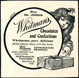 Advertisement -- Whitman's Instantaneous Chocolate.