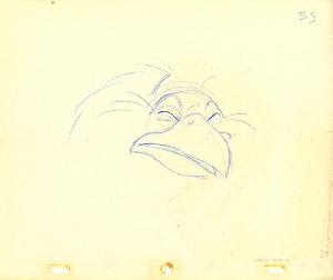 The Secret of NIMH - Animation Drawings, Sequence Unnumbered, Scene Unnumbered, Jeremy the Crow