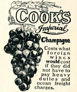 Advertisement -- Cook's Champagne.