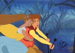 Thumbelina - Cel setup with signature, Sequence 70, Scene 38