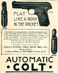 Advertisement -- Colt: Flat Like a Book in the Pocket.