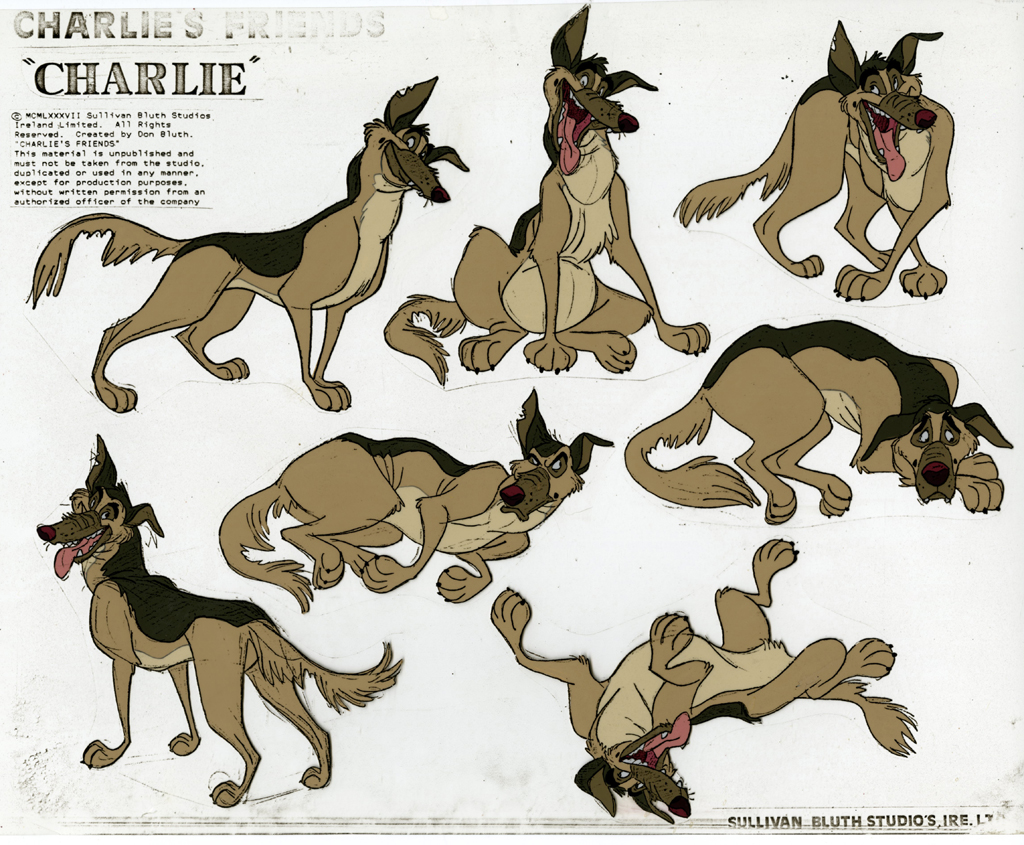 Learn How to Draw Charlie B. Barkin from All Dogs Go to Heaven ... | 845x1024