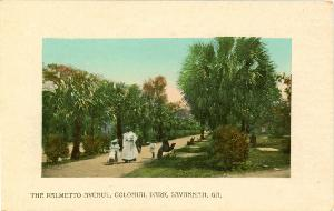 Cemeteries and Parks -- The Palmetto Avenue, Colonial Park, Savannah GA
