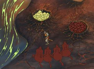 Dragon's Lair - Painted Background with Cel Set-up
