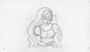 Thumbelina - Pre-Production, Story Sketches, Various of Thumbelina