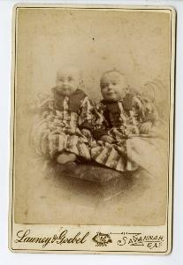 Portrait -- Infants, twins