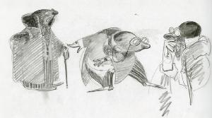 Thumbelina - Pre-Production, Character Designs, Mr. Mole