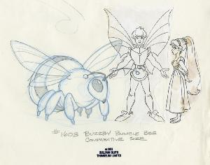 Thumbelina - Character Designs, Cornelius, Thumbelina, and Bumble Bee