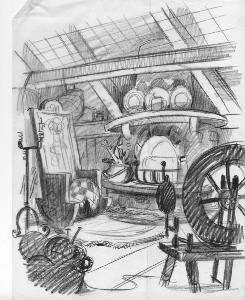 Thumbelina - Pre-Production, Environments, Kitchen