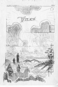 Thumbelina - Pre-Production, Environments, Exterior Sketches