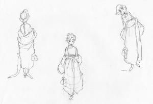 Anastasia - Pre-Production - Anya - Posture and Proportions