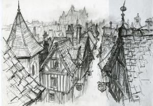 Thumbelina - Pre-Production, Environments, Rooftops
