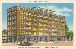 Hotels -- John Wesley Hotel Congress and Abercorn -- Savannah Georgia