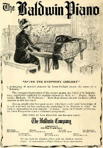 Advertisement -- The Baldwin Piano.