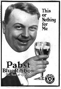Advertisement -- Pabst Blue Ribbon.