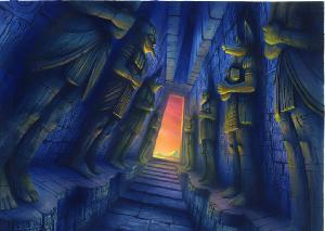 Dragon's Lair II: Time Warp - Painted Backgrounds