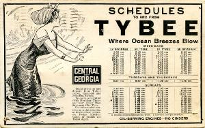Miscellaneous -- Schedules to and from Tybee where the ocean breezes blow.