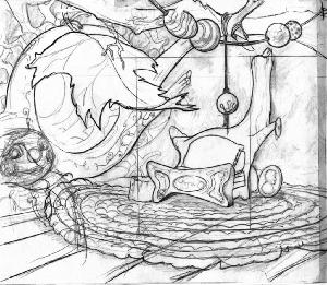 The Secret of NIMH - Layout, Sequence 006, Scene 5, Mrs. Brisby's House.
