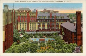 Hotel DeSoto -- Hotel DeSoto Court Garden and Swimming Pool, Savannah GA
