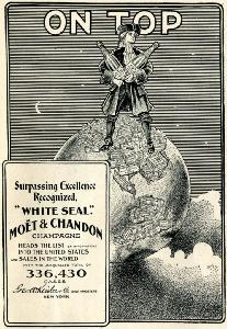 Advertisement -- Moet & Chandon Champagne.