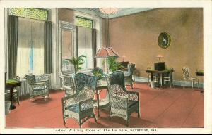 Hotel DeSoto -- Ladies Writing Room of the De Soto, Savannah Ga.