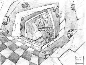 Space Ace - Layout Sequence 029, Scene B-2 Checkered Road.