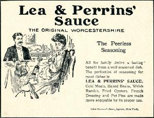 Advertisement -- Lea and Perrins' Sauce: the Original Worcestershire.