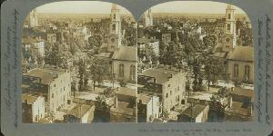 Aerial View -- Savannah from Government Building Looking South, Ga. U.S.A.