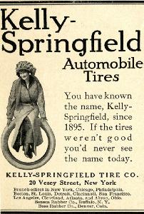 Advertisement -- Kelly-Springfield Automobile Tires.