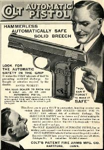 Advertisement -- Colt Automatic Pistol.