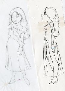 Thumbelina - Pre-Production, Character Designs, Thumbelina