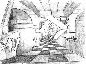 Space Ace - Layout Sequence 029, Scene B-4 Checkered Road.