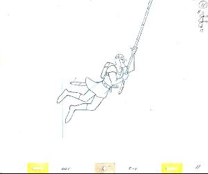 Dragon's Lair - Animation of Dirk Swinging to Ropes.