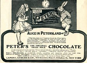 Advertisement -- Peter's Milk Chocolate.