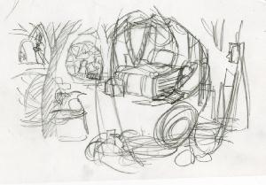 Thumbelina - Pre-Production, Environments, Mrs. Fieldmouse' House